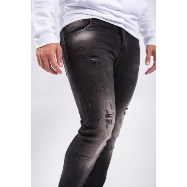 Y Skinny fit stretch jeans washed Black