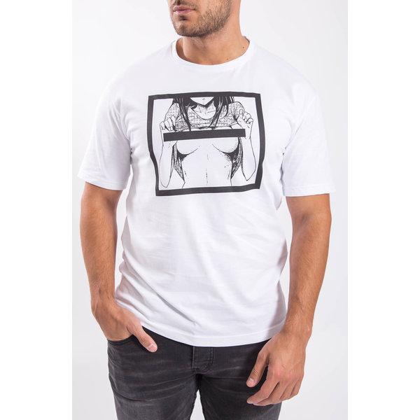 """Y T-shirt """"censored girl"""" White"""