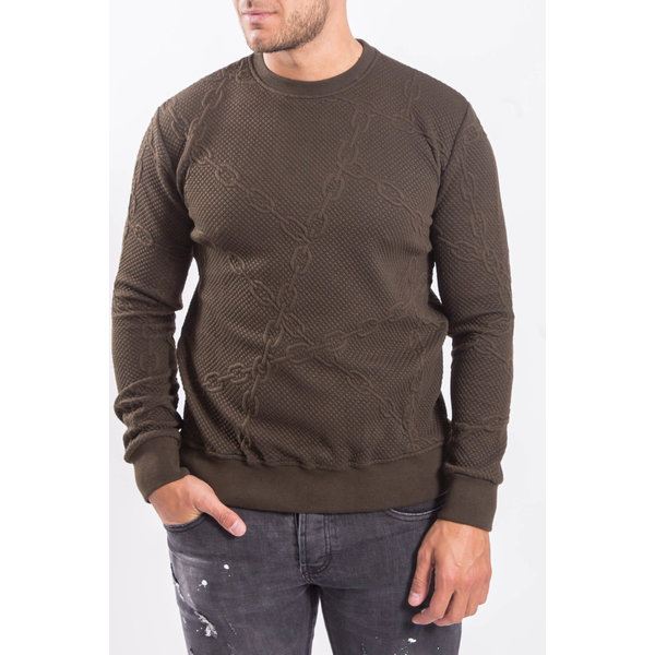 "Y Sweater ""chained"" Green"