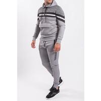 """Y Tracksuit """"patterned"""" Grey / Black"""
