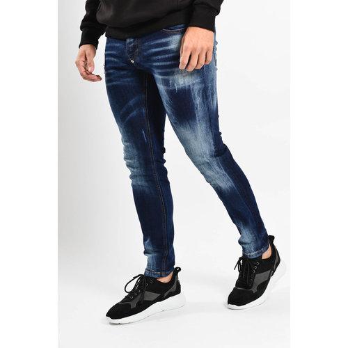 Y Skinny fit stretch jeans Dark Blue washed