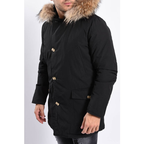 Y Winter Parka (real fur) Black