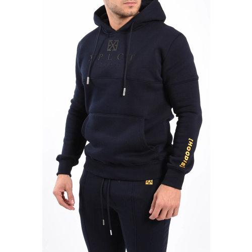 Y XPLCT Brand Hoodie Navy