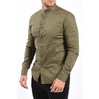 Y Slim Fit Blouse Round Neck Green