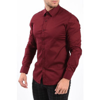 Y Slim Fit Blouse Bordeaux
