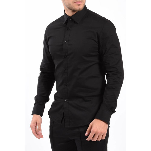 Y Slim Fit Blouse Black