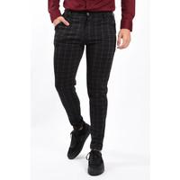 Y Stretch Pantalon Checkered Black / Red