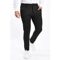 Y Stretch Pantalon black striped