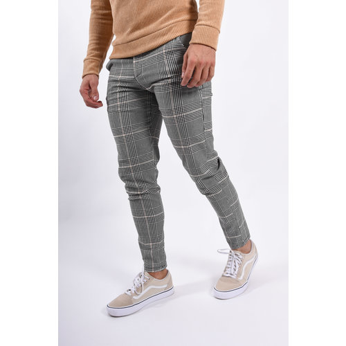 Y Stretch Pantalon Grey / Beige