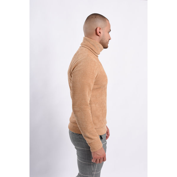 Y Turtle Neck soft touch Camel