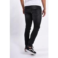 Y Skinny fit stretch jeans Black / red splashes