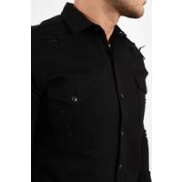 Y Denim Stretch Blouse Total Black