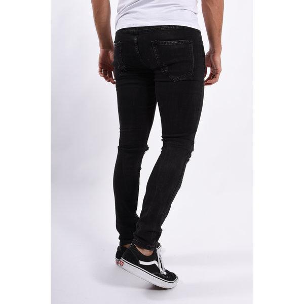 Y Skinny fit stretch jeans Black destroyed