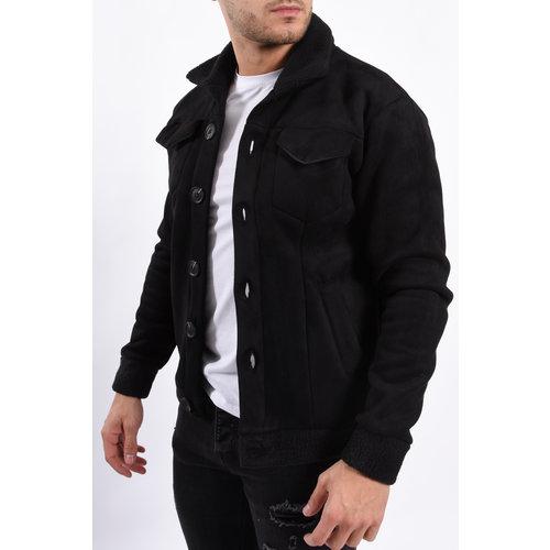 Y Jacket Suede look warm gevoerd Black