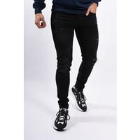 Y Skinny fit stretch jeans Slightly Distressed Black