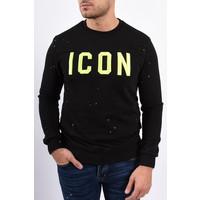 """Y Sweater """"icon"""" Black / Neon"""