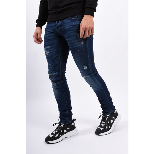 Y Skinny fit stretch jeans Dark Blue slightly splashes