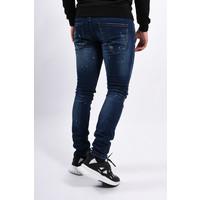 Y Skinny fit stretch jeans Dark Blue slightly splashes