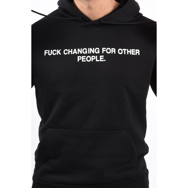 """Y Hoodie """"F changing for other people"""" Black"""