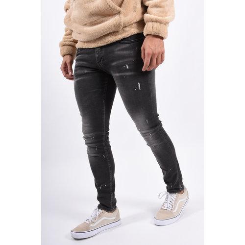 Y Skinny fit stretch Jeans Grey / white splashes
