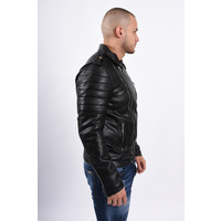Y Leather Look Biker Jacket Black
