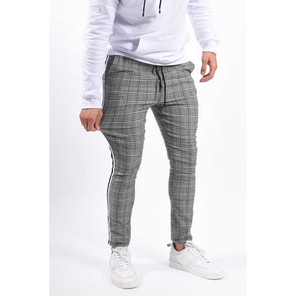 Y Checkered Pantalon / Track pants Grey Striped