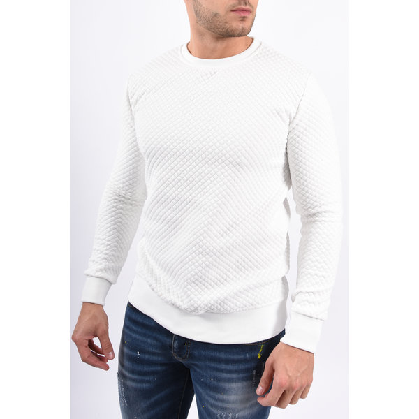 Y Sweater Patterned White