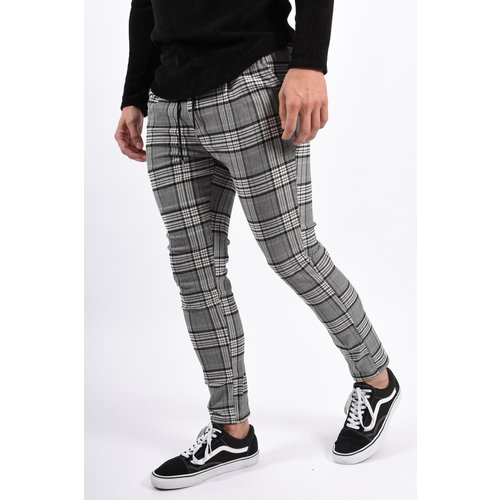 Y Pantalon / Track pants checkered black / beige