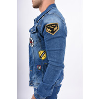 Y Denim Jacket Blue with patches