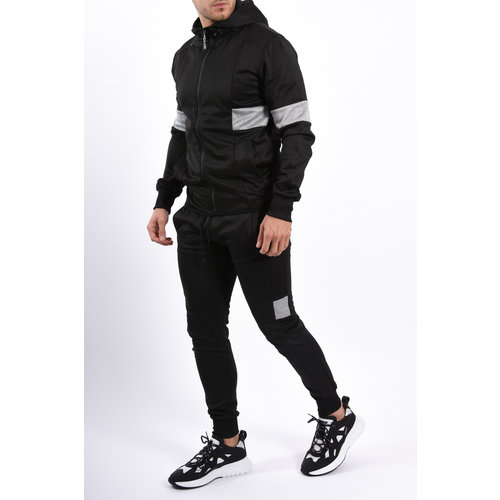 Y YUGO Zip 1.0 Tracksuit Black / Grey