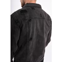 Y Denim Jacket distressed D. Grey