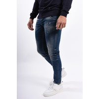 Y Skinny fit stretch jeans Blue with pink / white splashes