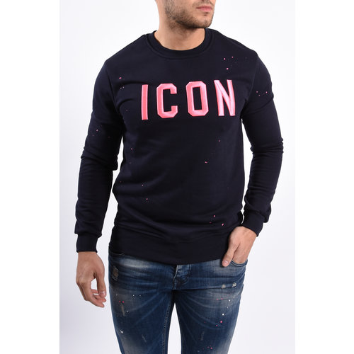 "Y Sweater ""icon"" Blue / Pink"