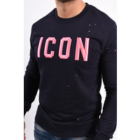 """Y Sweater """"icon"""" Blue / Pink"""