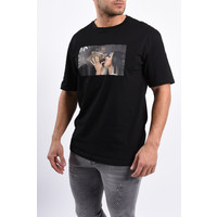 "Y T-shirt ""offcardi"" Black oversized"