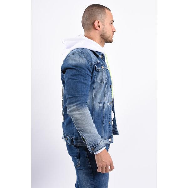 "Y Denim Jacket ""all eyes on me"" Blue"