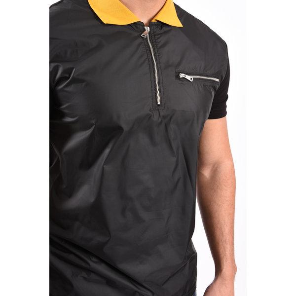 Y Polo bi-material Black / Yellow