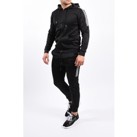 Y Tracksuit Black with reflective stripe