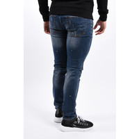 Y Skinny fit stretch jeans Blue with white/blue splashes