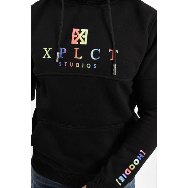 Y XPLCT Rainbow Hoodie Black