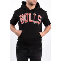 """Y Hoodie short sleeve """"Bulls"""" Black"""