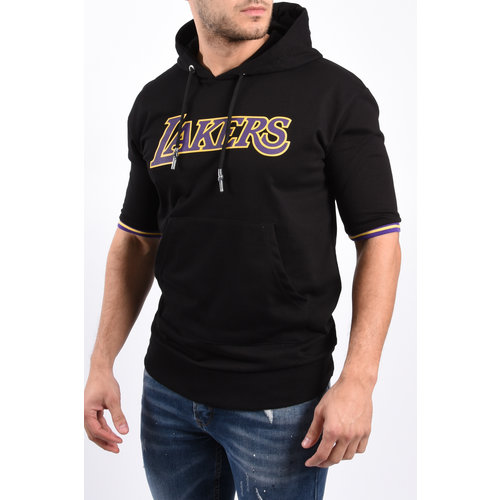"""Y Hoodie short sleeve """"Lakers"""" Black"""