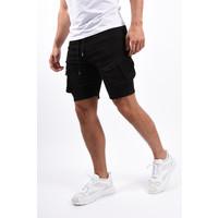 Y Cargo stretch shorts Black