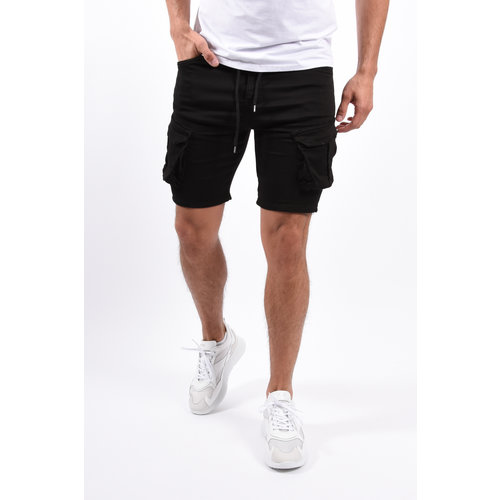 Y Cargo stretch shorts Black