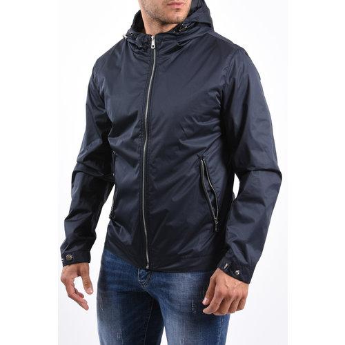 Y Summer Jacket hooded silver zipper Dark Blue