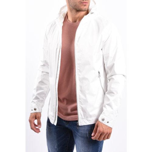 Y Summer Jacket hooded silver zipper White