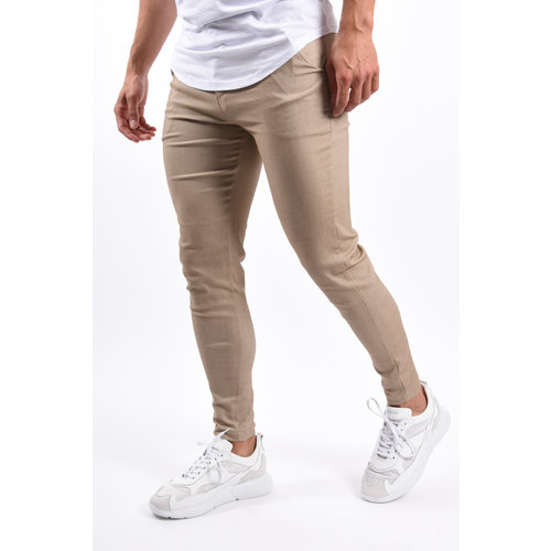 Y Stretch Pantalon Beige