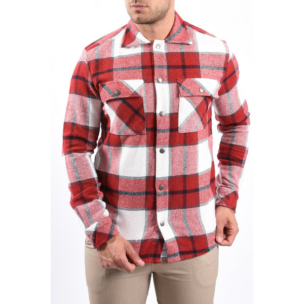 Y Checkered Jacket Red
