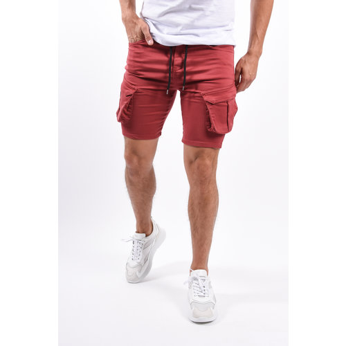 Y Cargo stretch shorts Red