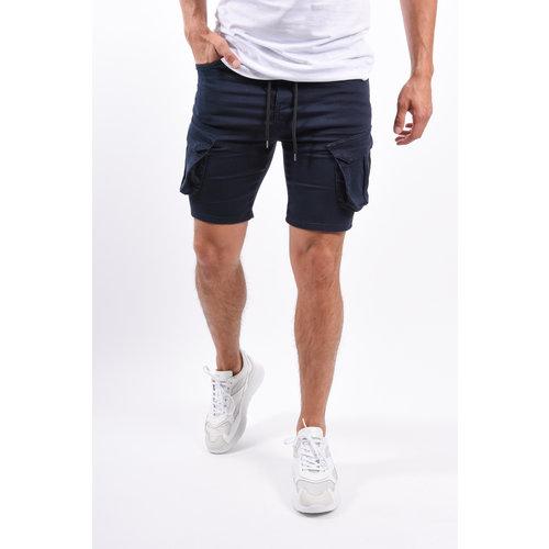 Y Cargo stretch shorts Navy Blue